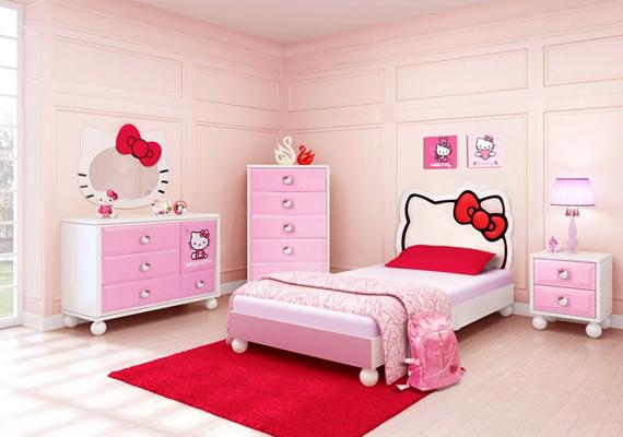 Hello Kitty nagy mennyiségben még egy játszószobában is sokkoló.