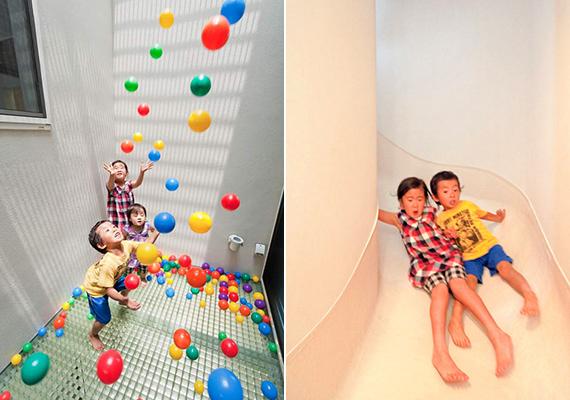 Az épületben számos más gyerekbarát tér is megtalálható.