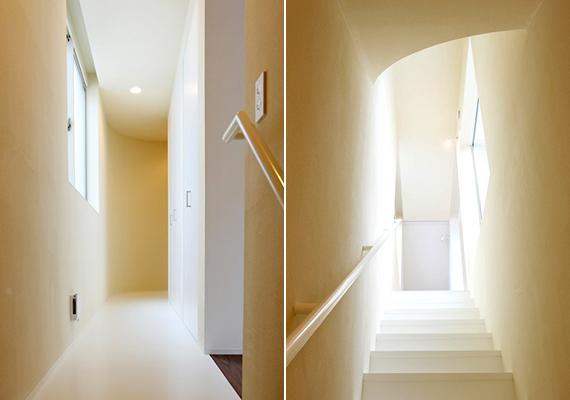 Az egyes emeleteket csúszda köti össze, emellett persze lépcsők is találhatók a házban.