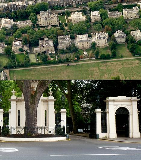Kensington Palace Gardens, Anglia                         A londoni Kensington Palace Gardens területét nem véletlenül nevezik a milliárdosok utcájának, a számos nagykövetség mellett ugyanis olyan gazdag üzletembereknek van itt ingatlanjuk, mint Hassanal Bolkiah, Roman Abramovich vagy az acélmágnás, Lakshmi Mittal. Utóbbi több házat is megvásárolt, volt közöttük, amit nem kevesebb mint 128 millió dollárért.