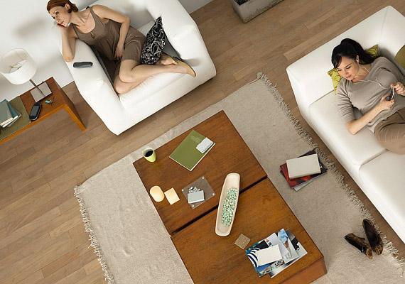 Világos fehérrel és halvány tejeskávéval a barna színt bátran használhatod kis méretű vagy sötét szobákban is.