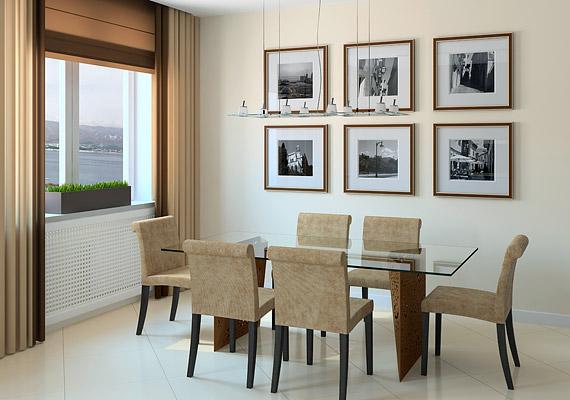 A mogyorószín a modern, minimalista stílusba is belefér.
