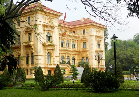 A vietnami elnöki otthont csak 1900-ban kezdték el építeni, Hanoi városában.