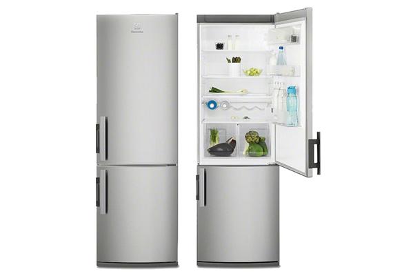 A kétajtós kombinált hűtő kategóriában az Electrolux EN3613AOX alulfagyasztós hűtője a győztes.