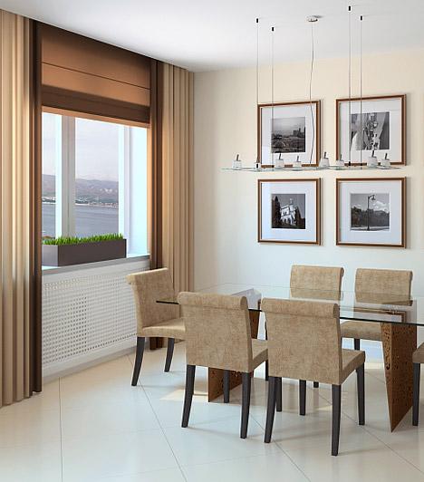 Ücsörögj az ablakban!  Ha van rá lehetőség, az étkezőt az ablak mellett alakítsd ki. A beáramló napfény nemcsak vidámabbá és otthonosabbá teszi a teret, de, ha a szemed nem ütközik mindenhol a falba, tágasabbnak és kényelmesebbnek érzed majd az étkezőt.