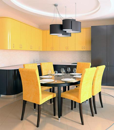 Használd ki a lehetőségeket!  A legtöbbünknek nincs lehetősége arra, hogy egy külön helyiséget nevezzünk ki étkezőnek, és már annak is örülünk, ha helyet találunk egy kis asztalkának és néhány széknek. Azonban, ha elég leleményes vagy, egy talpalatnyi helyen is kialakíthatod az étkezőt úgy, hogy illeszkedjen a lakás többi helyiségéhez, funkciójában mégis elkülönüljön a szoba többi részétől.