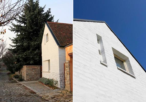 Az ökologikus családi ház épülete szervesen simul a szentendrei kis utcába. Megőrzi az öreg ház szerénységét, a kiegészítések, az átépítések azonban a ma igényeit teljesítik.