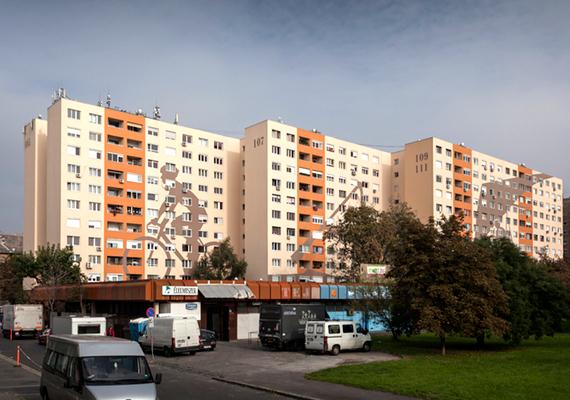 Különdíjat kapott panelház kategóriában ez a budapesti, III. kerületi, Lajos utcai épület.