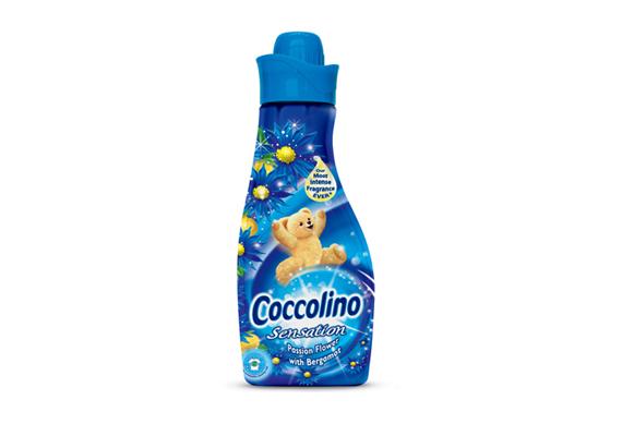 A Coccolino Sensation Golgotavirág & Bergamot illata felvillanyozza az érzékeket.