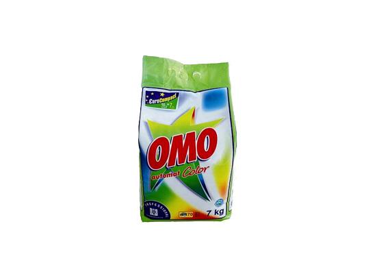 Az Omo Color mosópor nagyobb kiszerelésben kapható, hét kiló 3900 forint körüli összegbe kerül.