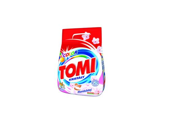 A Tomi Color mandulatejes mosóporból a kétkilós kiszerelés már 900 forint körül kapható.