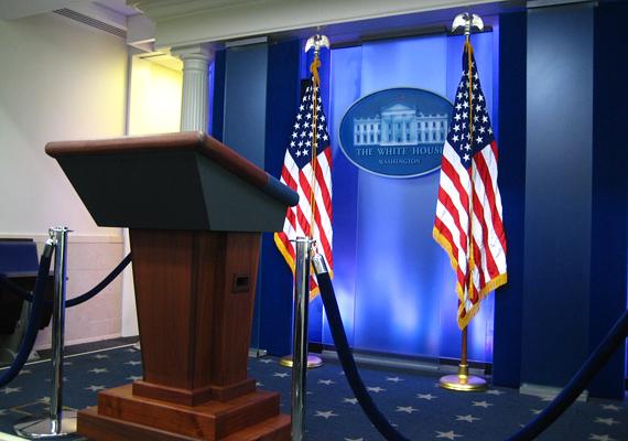 A James S. Brady sajtószobát szintén láthattad már, ez a Fehér Ház sajtótitkárának dolgozószobája.