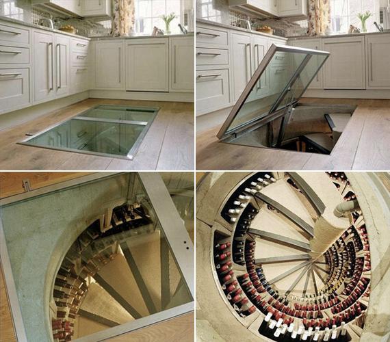 Sőt, akár borospincét is rejthetsz a padló alá, hogy az ízletes nedűk méltó helyen várhassák meg, míg felbontják őket.
