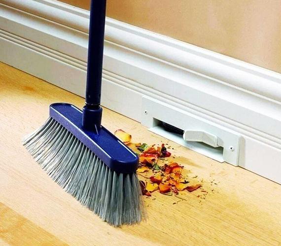 Ez az egyetlen igazán praktikus kreálmány a felsoroltak közül: valószínűleg minden háziasszony szívesen látna az otthonában ilyen, falba szerelt porszívót. Lényegesen leegyszerűsítené a takarítást.