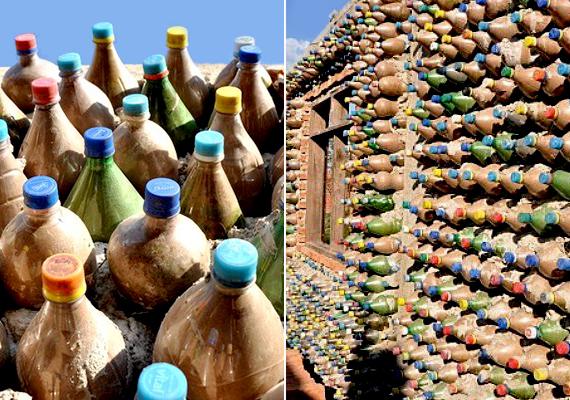 A bolíviai ügyvéd, Ingrid Vaca Diez újrahasznosított műanyag palackokból épített házat azzal a céllal, hogy segítsen megoldást találni a szegény rétegek lakhatási problémáira.