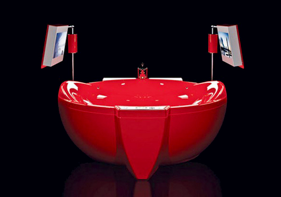 A Red Diamond, vagyis a Vörös Gyémánt 47 ezer dollárba kerül, így a világ egyik legdrágább fürdőkádja. Cserébe két HDTV-vel, játékkonzollal és Swarowski-kristályokkal is ellátták.