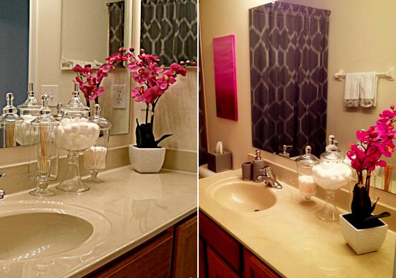 Ha egyetlen szín dominál a fürdőszobádban, például fehér vagy világos a csempe, egy vagy két színes orchideával kiválthatod a látványos dekorációt. A gyönyörű virágok ráadásul éppen nedves, párás környezetben érzik a legjobban magukat.