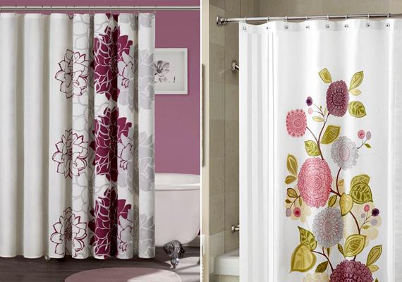 Egy szép zuhanyfüggönnyel az egész helyiség új arculatot kaphat.