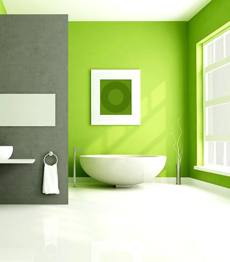 Frissítő színek                         A fürdő sohase legyen sötét, ez ugyanis nyomasztó hangulatot áraszt, a helyiség pedig így sosem lesz a feltöltődés színtere. A hideg színek, például a kék helyett használd meleg vagy friss árnyalatokat, sárgát, narancsot, zöldet. Ha festhető a fal, nem pedig csempe, gyorsan és könnyen adhatsz a fürdőnek új árnyalatot.