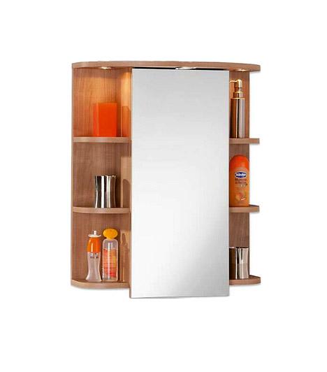 Trükkös tükrös szekrény a MöbelixtőlBal és jobb oldalon három-három lekerekített polcocskára pakolhatsz, ráadásul még a tükör is rejt tárolóhelyeket. A Möbelix tükrös szekrénye modern és praktikus tagja lehet a fürdőszobád berendezésének.