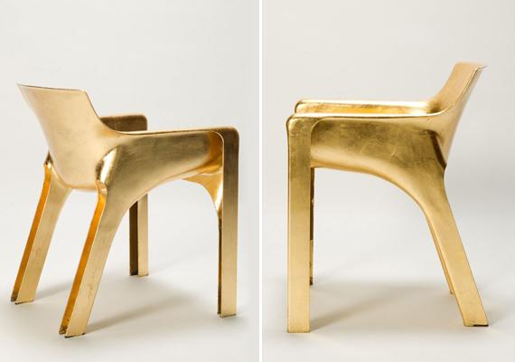 Kifinomultabb ízlésvilág esetén a trón helyett aranyszéket is lehet választani, például ezt az egyébként letisztult formavilággal rendelkező Karma Chairt.
