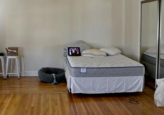 Íme, egy nem túl otthonos hálószoba, melyből jóval többet is ki lehetne hozni. Nézd csak meg a következő képet!