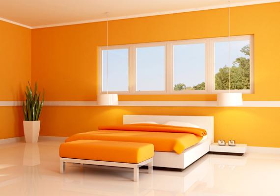 Ha narancssárgára fested a falakat, 7 óra 28 percnyi nyugodt alvás vár éjszaka.