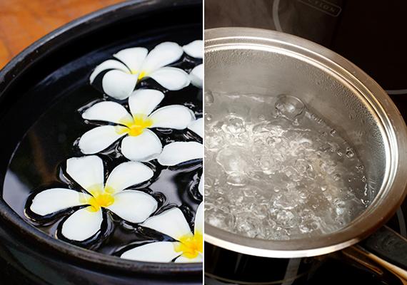 Bár ezt szinte mindenki tudja, egy kevés forró víz tökéletes ellenszere annak is, ha a lakásban túl száraz a levegő. Ilyenkor elég, ha vizet forralsz, de az is hatásos lehet, ha forró vizet teszel ki egy dekoratív vagy bármilyen más tálkában. Érdemes azonban beszerezned egy páramérőt, hogy ne ess át a másik végletbe se. Ha ide kattintasz, többet is megtudhatsz az ideális páratartalomról.