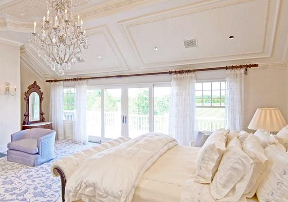 Beyoncé hálószobája Bridgehamptonban.