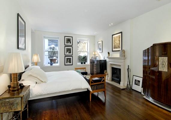 A képen a Sarah Jessica Parker és férje manhattani otthonában található hálószoba látható.