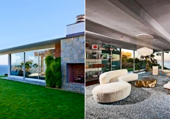 Íme, a híres humorista, Ellen DeGeneres Beverly Hills-i, vízparti otthona. Az üvegfalakkal borított ház 53 millió dollárt ér.