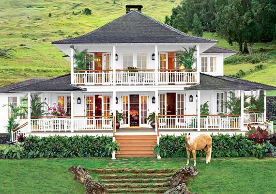 Ez Oprah hawaii otthona. Olyan, mintha egy film díszlete lenne.