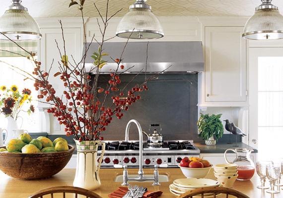 A konyha is nagyon otthonos, látszik, hogy Oprah sok időt tölt itt.
