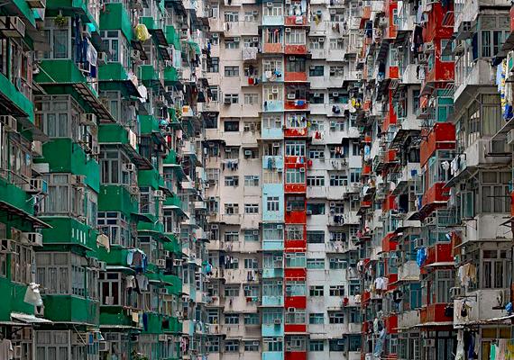 Az emberek jelentős része igen kis méretű terekben él.