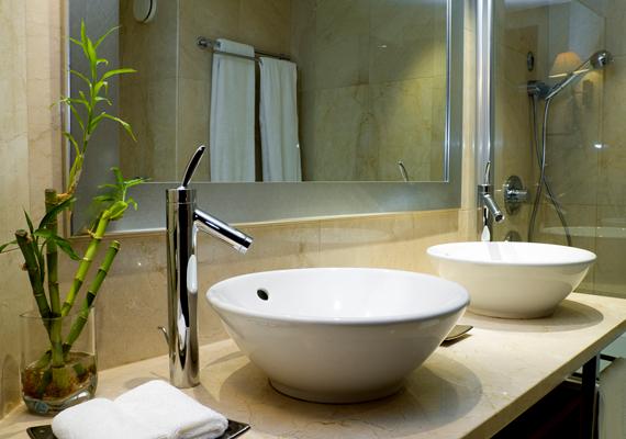 A fürdőszobában 21-22 fok az ideális.