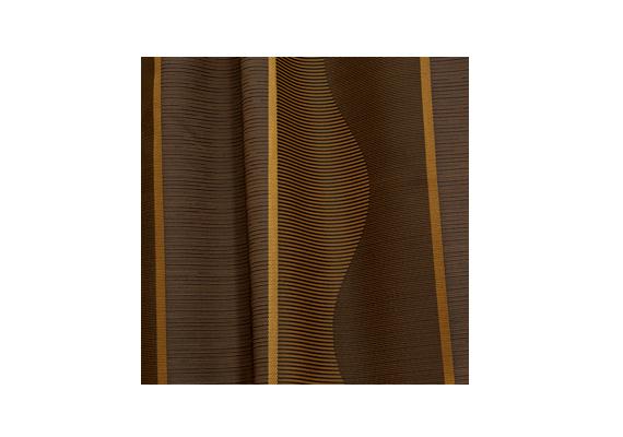 A kávébarna árnyalatokban játszó függöny a Függönyfutár terméke.