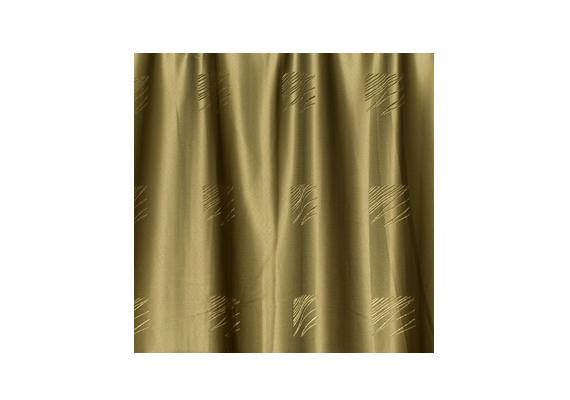 Ugyanitt elegáns, fényes, arany-mohazöld árnyalatú függöny is kapható.