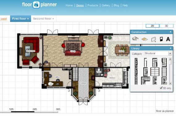 A Floor Planner nevű program a lakás részletes alaprajzának elkészítésében segít. Itt érheted el.