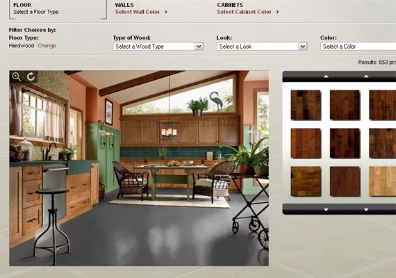 A Design a Room nevű program tökéletesen alkalmas arra, hogy különféle anyag-, minta- és színkombinációkat próbálj ki. Itt érheted el.