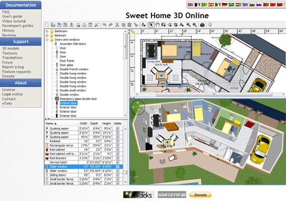 A Sweet Home 3D szintén összetett program, mely segít a tervezésben, egészen a lakás berendezéséig. A végeredményt itt is megnézheted 3D-ben. Itt érheted el a programot.