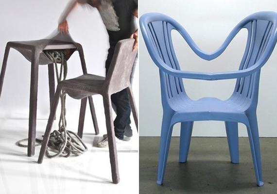 A Nacho Carbonell által tervezett szék nem túl gusztusos, míg Kai Linke kék alkotása a használhatóság terén hagy kívánnivalót maga után.