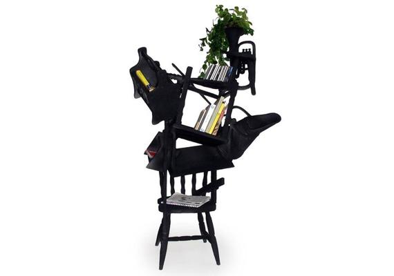 A Maarten Baas által tervezett bútor, bár lehet, hogy praktikus, szépnek kevésbé mondható.