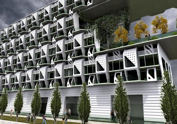 A denveri Meridian105 építészcég Weave House nevű koncepciója egy energiahatékony, a legóhoz hasonlóan előre gyártott elemekből összeállítható lakótömböt takar.