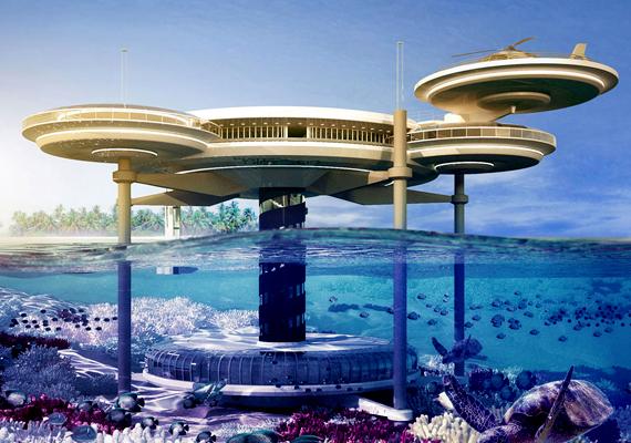 A lengyel Deep Ocean Technology tervezői vízre épült, illetve víz alatti épületkomplexumot szeretnének létrehozni.