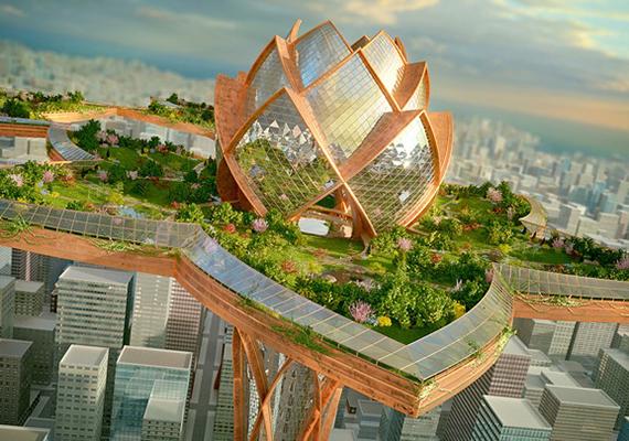 A szennyezett metropoliszok fölött lebegő, gyönyörű lótuszvárosok koncepciója Tsvetan Toshkov építész nevéhez köthető. Ha még több hasonló helyre vagy kíváncsi, kattints ide!