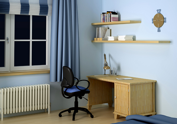 A kék szín a színterapeuták szerint a koncentrálásban és a szellemi tevékenységek során is segít, így például bátran használhatod abban a helyiségben, ahol tanulsz vagy dolgozol.