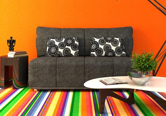 A modern, életteli színek és a hagyományos minták - mint például a csíkos szőnyeg - a jövő év slágertémája lesz.