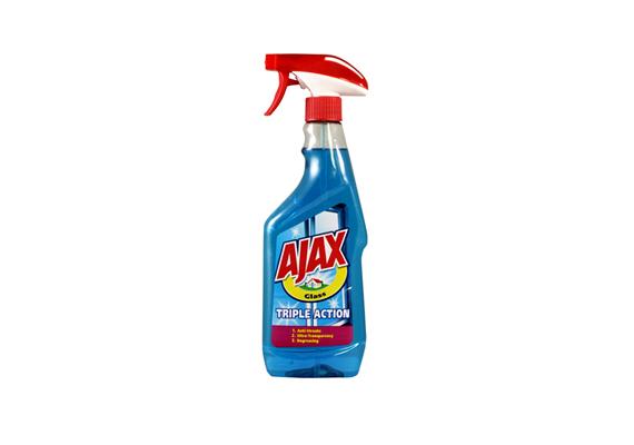 Az Ajax Triple Action ammóniamentes ablaktisztítója csík-, folt- és szennyeződésmentes ablakokat hagy maga után.