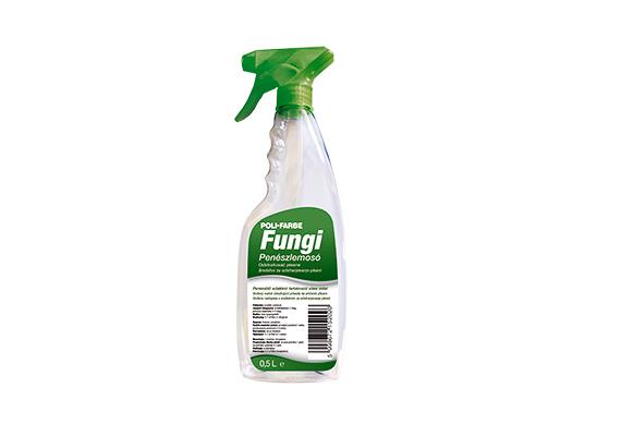 A Poli Farbe Fungi penészlemosó spray-je segít a falakról eltávolítani a makacs gombákat, és a megelőzésért is sokat tesz.