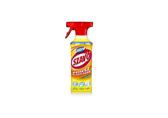 Az Ultra Szavo fürdőszobai penész elleni szere nemcsak eltávolítja a penészt, és fertőtlenít, de fehérít is.